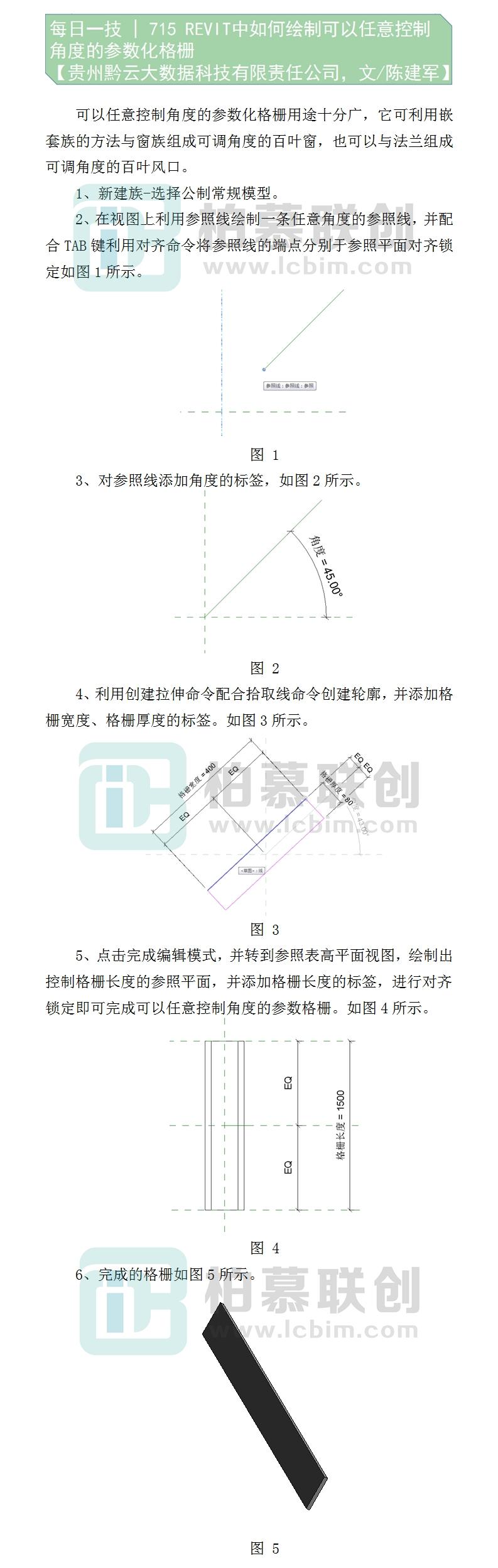 715    REVIT中如何绘制可以任意控制角度的参数化格栅--陈建军-贵州黔云大数据科技有限责任公司.jpg
