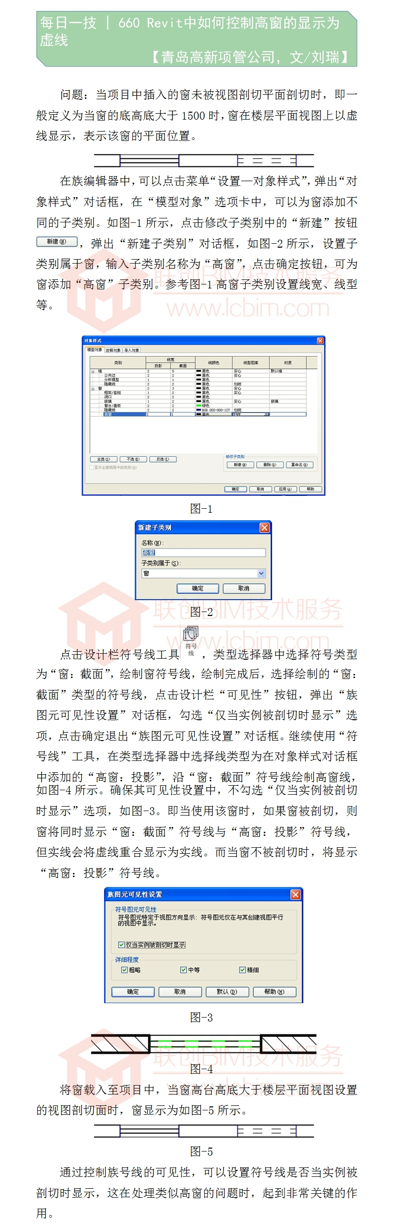 660 Revit中如何控制高窗的显示为虚线.jpg